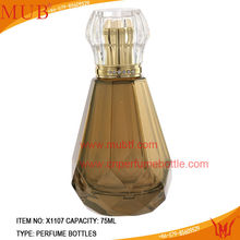 Pretty Crystal Perfume Glass Spray Bottles Manufacturers With Crystal Cap