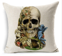 2015 Chinese factories wholesale supply hot sale fashion with human skeleton Super soft 100% cotton Customise Throw Pillow