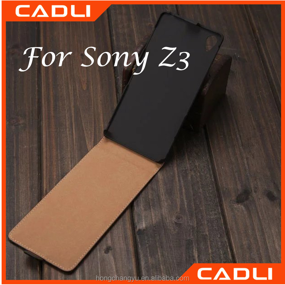 For Sony Z Luxury Vertical Flip Leather Cover Case Stand Holder Card Slots
