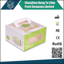 China experienced custom fancy printed corrugated paper Clear Cupcake Box with handle