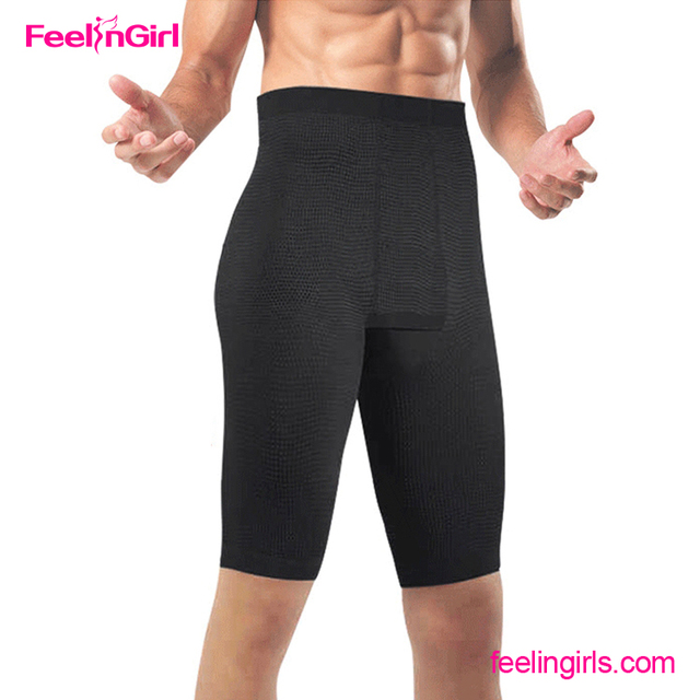 Fast Delivery Free Shipping Black Short Slim Fit Pants Men Body Shaper