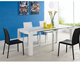Modern extending space saving dining table