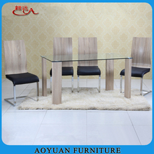 Wooden Furniture Cheap Modern Dining Table and Four Chairs Sets