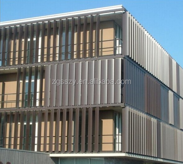 Building Facade Exterior Aluminum Fixed Airfoil Vertical Louver Buy Building Facade Vertical