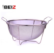 Factory Direct Sale Food Grade Stainless Steel Round Kitchen Wire Mesh Drain Basket