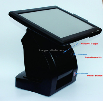 pos machine all in one cheap supermarket electronic pos terminal with printer