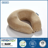 KINGKADY U Shape Leather Sofa with Fabric Cushion/BASF Memory Foam Car Seat Cushion Pillow