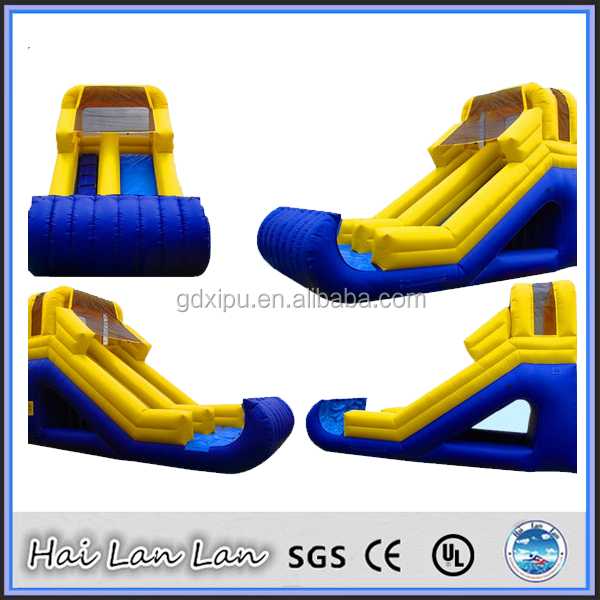 2015 Guangzhou Inflatable Water Slide With a Pool