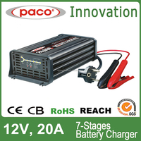 12V DC 20A automatic marine battery charger for car battery