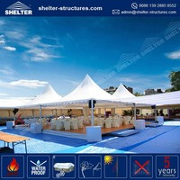 Direct factory supply high peaked arabian high quality restaurant outdoor marquee tent hot food gazebo tent
