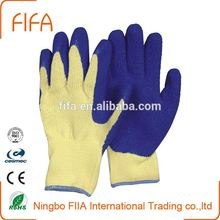 10 guage fluorescent string knitted with latex coated, Warm lining glove