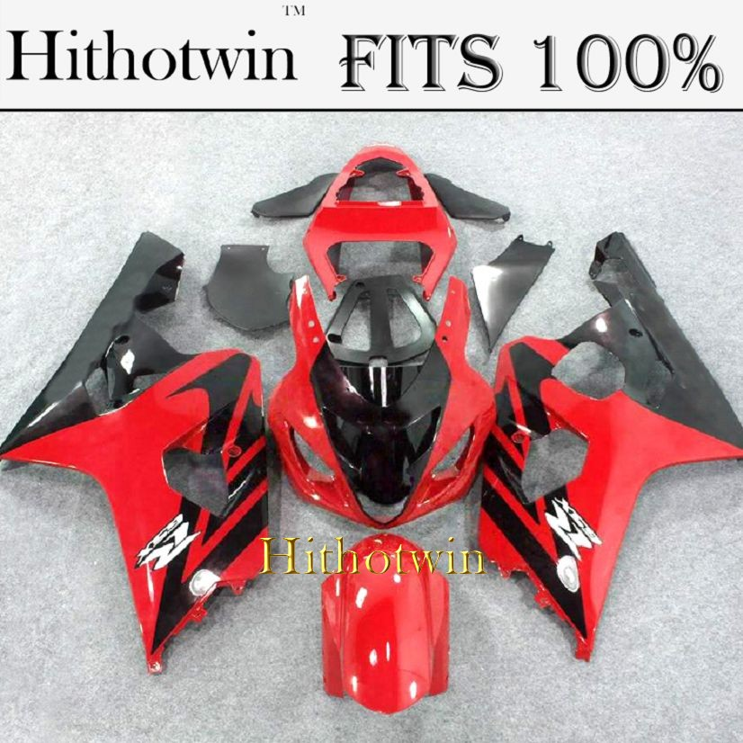 INJECTION MOLDING Fairing 2004 2005 GSXR600/750 For Suzuki K4 GSXR600 red black GSXR750 2004 2005 ABS Plastic Fairing Kit Fit