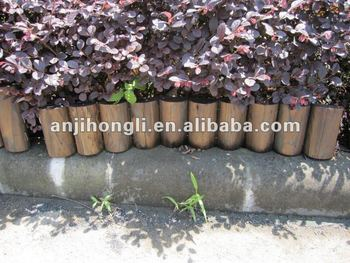 High-quality Carbonized Colored Wood Edging for Garden Decoration