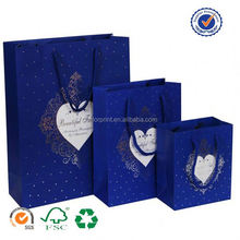 U color Customized promotion hand paper bag with wheels