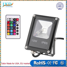 Ultrathin LED Flood light 10W Black AC85-265V IP65 Waterproof Floodlight Spotlight Outdoor Lighting Wireless Remote Controller