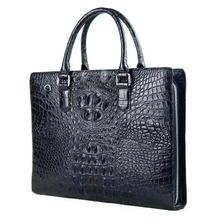 Exotic Luxury Fashion Male Business Crocodile Leather Handbag