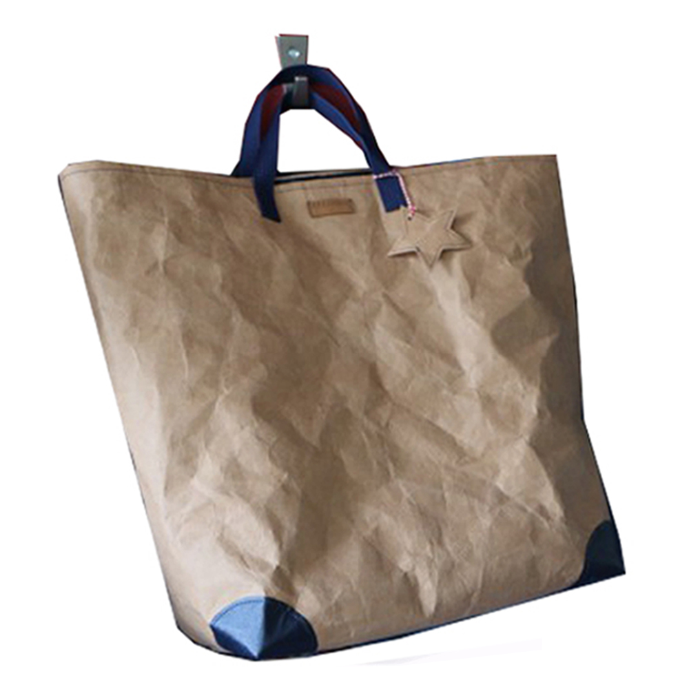 vegan paper washable recycled bag washable kraft, customized washable paper hand bag