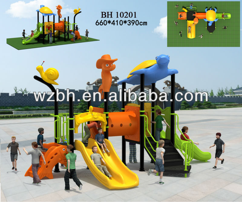 2013 latest kids happy outside playground natural slides BH10201