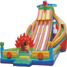 Bottom price new arrival tree house slides playground equipment