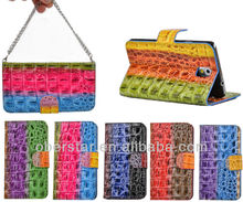 Stylish Color Crocodile Handbag Leather For Samsung Galaxy S3 i9300 Wallet Holster Flip Cover Case