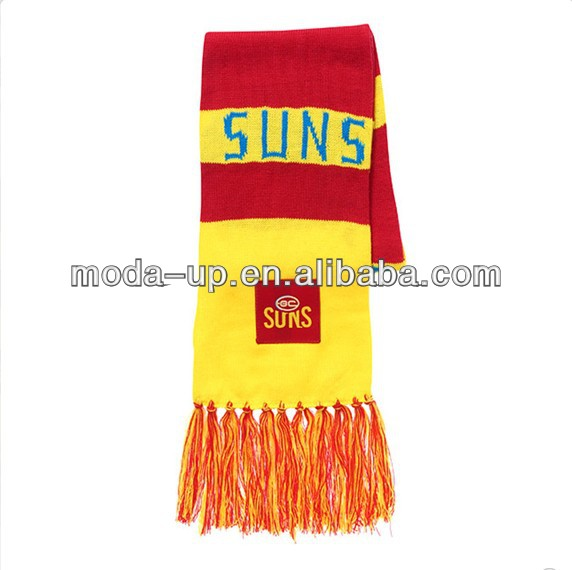 acrylic knit football sports scarf