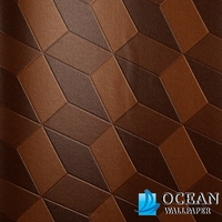 panel effect wood painting 3d wallpaper