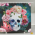 1 Pcs Fashion Shower Curtain Floral Skull Printed Waterproof Mildew Proof Home Bath Curtains with Hooks Bathroom Product