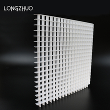 Light Eggcrate Ceiling Grille Plastic White Egg Crate Grilles