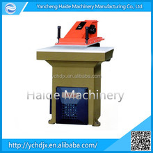 leather goods swing arm cutting press machine