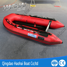 3m 4 persons rigid floor inflatable rowing tender pontoon boat