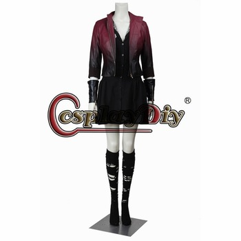 Movie Marvel's The Avengers 2 Age of Ultron Scarlet Witch Adult Halloween Cosplay Costume Custom Made