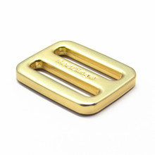 Gold Tri-glide Metal Engraved Brand Name Metal Buckle For bag