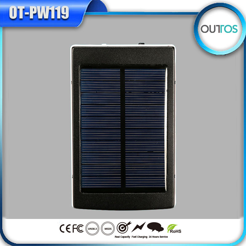 Factory supply 14000mah cell solar charger universal power bank for travel set