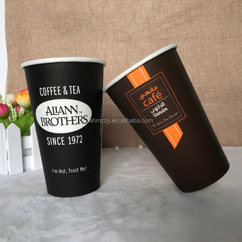 16oz 450ml disposable single wall paper cup