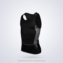 Mesh Fabric Breathable Mens Sleeveless Dri-fit Quickly Dry Ttaining Sport Clothing Top Vest