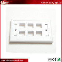 Cat5e rj11 rj45 wall faceplate for telecom