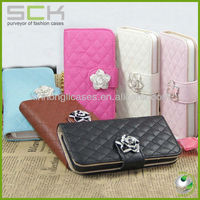 luxury cellphone case, for iphone 5 wallet leather case cover