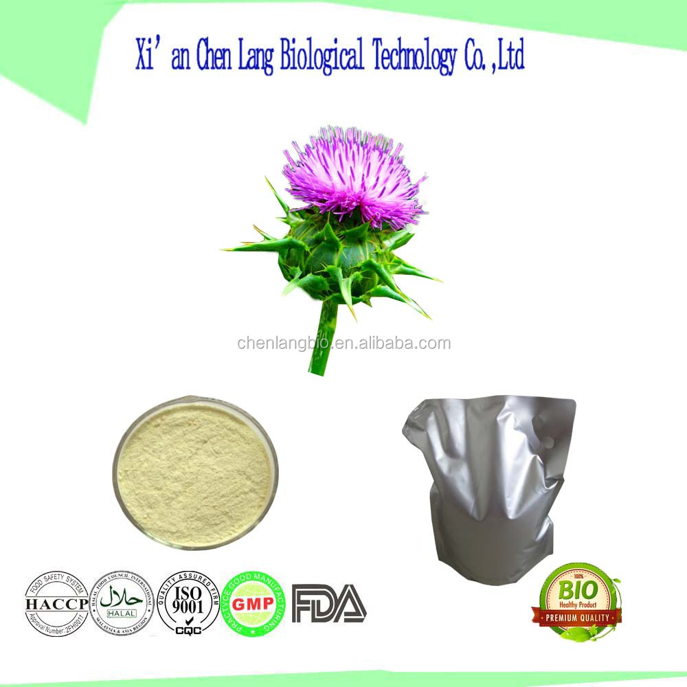 Liver Support Silymarin 80% Herbal Plant Extract Milk Thistle Extract