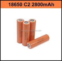 new product 18*65 size and li-ion type 3.7V ICR18650 C2 2800mah with LG Chem
