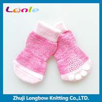 2016 classical series pink interweave knitting cotton pet shoe socks for dogs cats