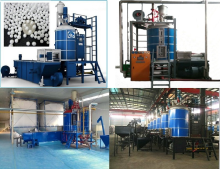 eps spray polystyrene foam machine