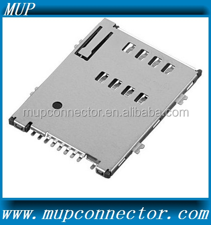 MUP-C752 push-push type SIM card connector socket