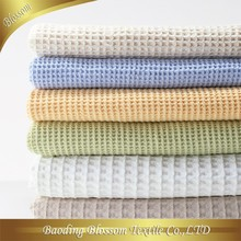 100% Cotton Blanket HRM Towel Quilt Waffle Jacquard Gift Wedding Bedding Set Blanket Queen Size