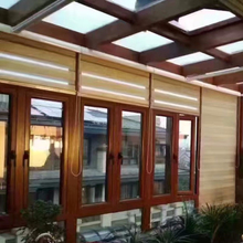 New design Superior quality Aluminum clad wood tempered glass green house