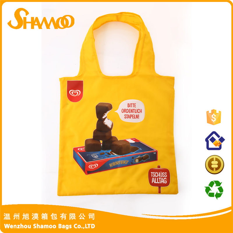 Shopping folding nylon bag