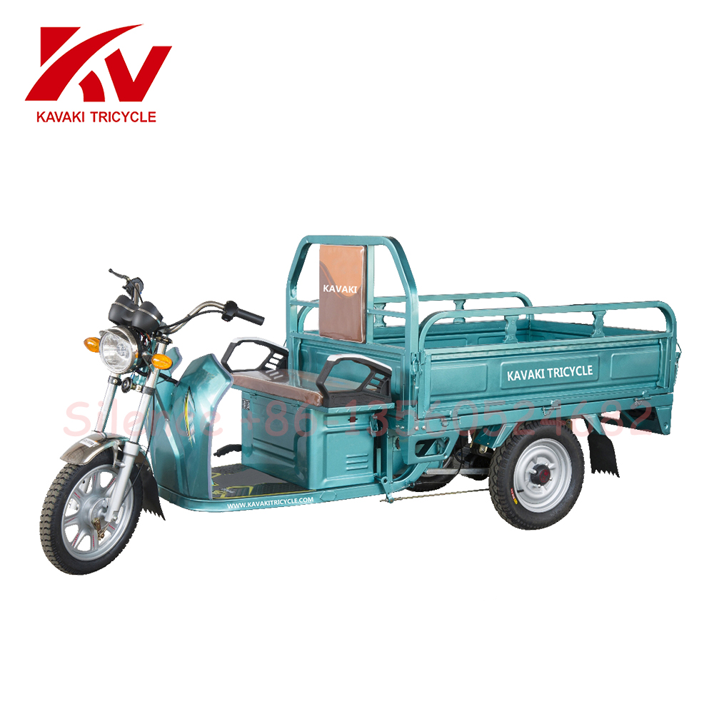China Electronic Battery Power 48V 60V Three Wheels Electric Tricycle Cargo Motor Tri Cycle Rickshaw 1.3*0.9m Cargo Carrier