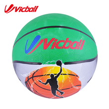 vicball colorful rubber basketball