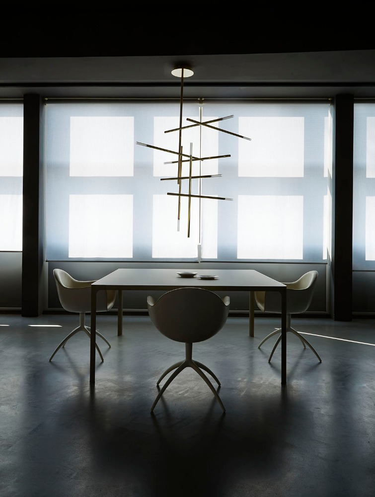 0717-1 modern steel glass KITAMI SUSPENSION LARGE pendant lamp