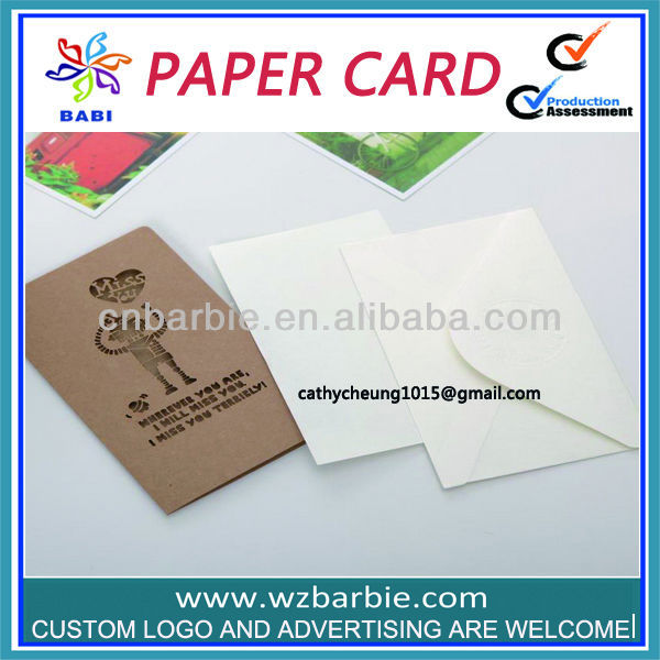 atacado em branco cartões e envelopes