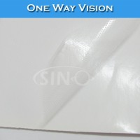 With Adhesive Glue Sticker One Way Vision Transparent PVC Paper